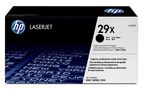 HP 29X | C4129X | Toner Cartridge | Black | High Yield | DISCONTINUED BY MANUFACTURER 29a Color Print Cartridge
