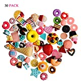 Charms for Slime, Sweeethome 30 Pcs DIY Embelishments Handcraft Flat-back Buttons Charms Beads