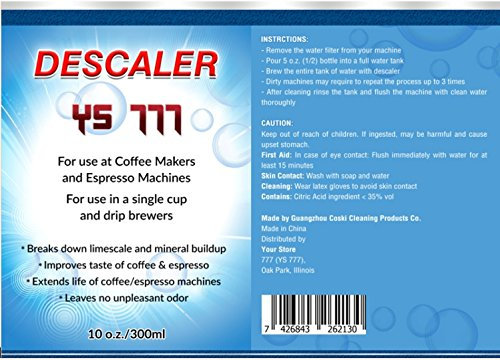 25% OFF Descaling Solution Descaler Cleaner Kit for Nespresso Keurig Delonghi Saeco Coffee Espresso and All Single Use Machines