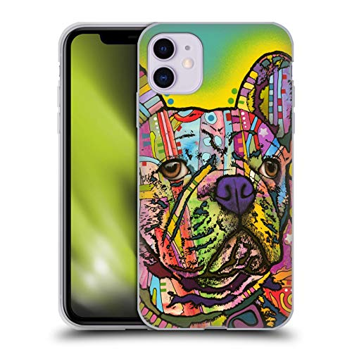 Head Case Designs Officially Licensed Dean Russo French Bulldog Dogs Soft Gel Case Compatible with Apple iPhone 11