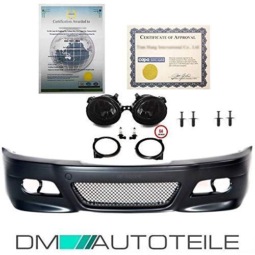 DM Autoteile Sport Stoßstange Vorne passt für E46 Vorfacelift + Nebellampen Smoke kein M3