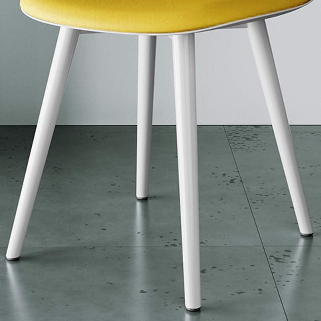 WDX- Chaise de Salle, Chaise de Bureau Simple, créative Dossier, Chaise Loisirs, Maison Adulte Chaise de Salle Confortable (Color : Red) Yellow