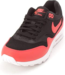 Nike Womens Air Max 1 Ultra 2.0 Si Low Top Lace, Black/Bright Crimson, Size 7.0