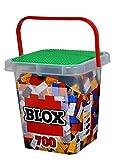 Simba Blox – 700 Bloques de construcción para niños a Partir de 3 años, Caja de 8 Piedras con Base Totalmente Compatible,, Negro, Rojo, Blanco, Amarillo, Azul