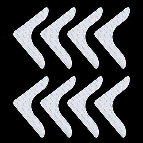 YWYW 4 Stück / 8 Stück fixierte, wiederverwendbare Wohnzimmer-Teppich-Aufkleber, waschbar, Anti-Rutsch-Pads, Teppich-Greifer, Anti-Curling-Aufkleber (8 Stück, weiß)