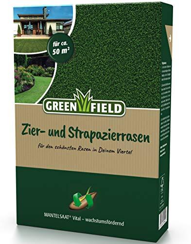 Greenfield Zier + Strapazierrasen Mantelsaat® Vital Rasen Samen 1 kg für ca. 50m²
