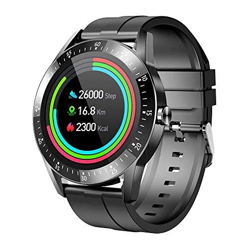 Smart Watch Deporte Impermeabilización IP67 1.28 Pulgadas IPS Pantalla DE Pantalla DE Pantalla DE Pantalla DE Pantalla DE Pantalla DE PANTÁCTUJA DE Pantalla Total Monitor de Ritmo cardíaco-Negro
