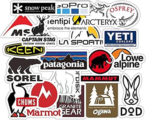 20個 FOR パタゴニア ステッカー アウトドアキャンプスポーツタイドブランドステッカー スーツケース ギター 車 バイク 自転車 ヘルメット スケートボード パソコンステッカー防水スケートボードステッカー
