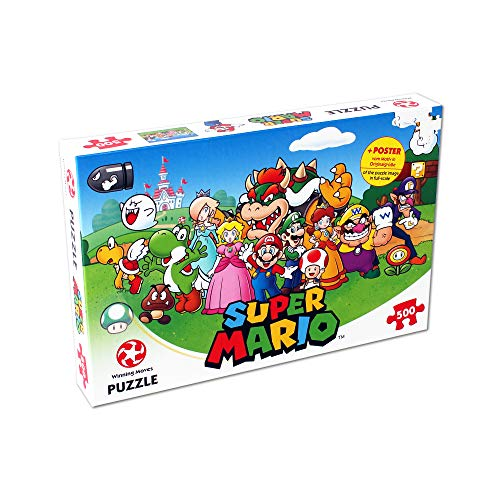 Winning Moves Mario Puzzle Super Mario & FRIENDS-500 Piezas, Multicolor (29476)