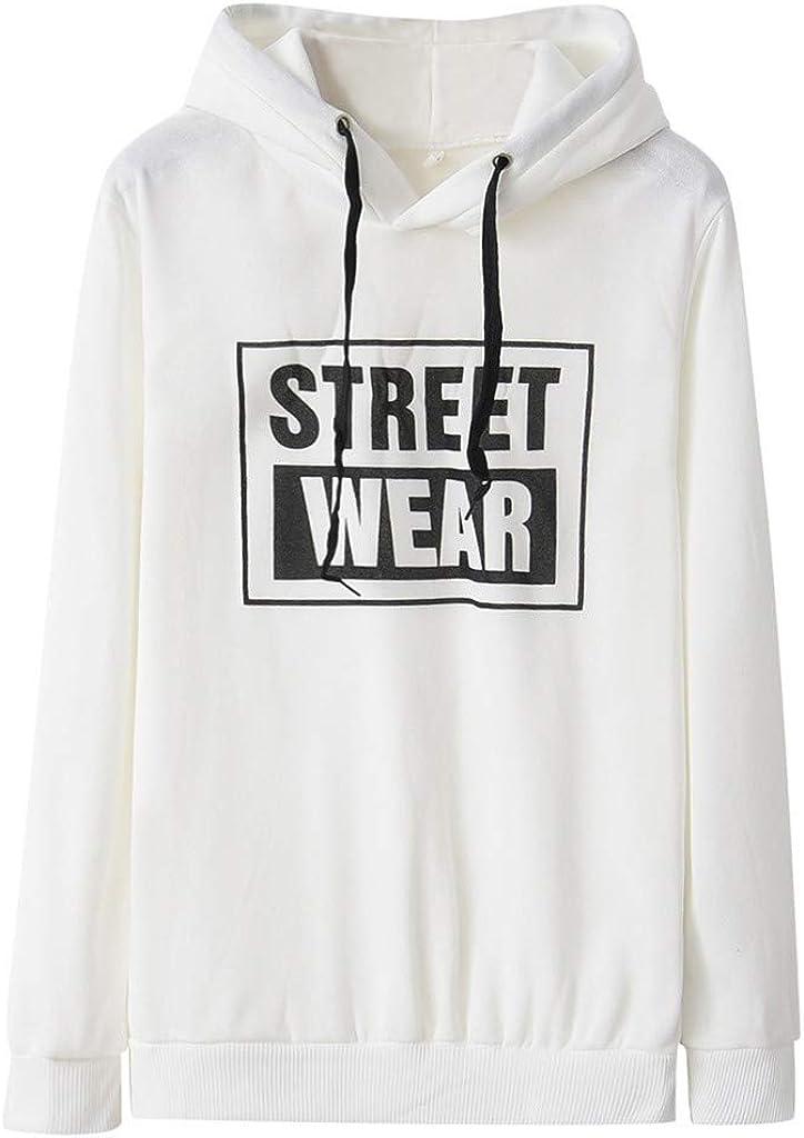 Girls' Hoodie, Misaky Pullover Sweatshirt Casual Loose Letter Print Long Sleeve Drawstring Hooded Blouse Jumper
