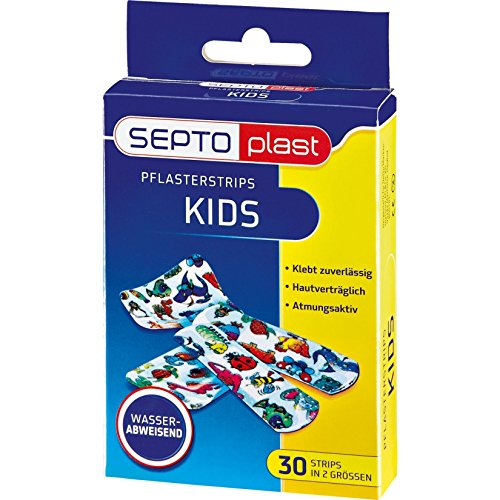 Septoplast pleister Kids Strips, 30 strips in 2 maten
