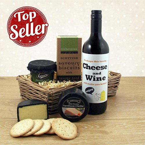 Cheese Wine and Pate Gift Basket - Age Only Matters If You're Cheese and Wine Food Hamper - Ideal Birthday Gift Available for Next Day Delivery