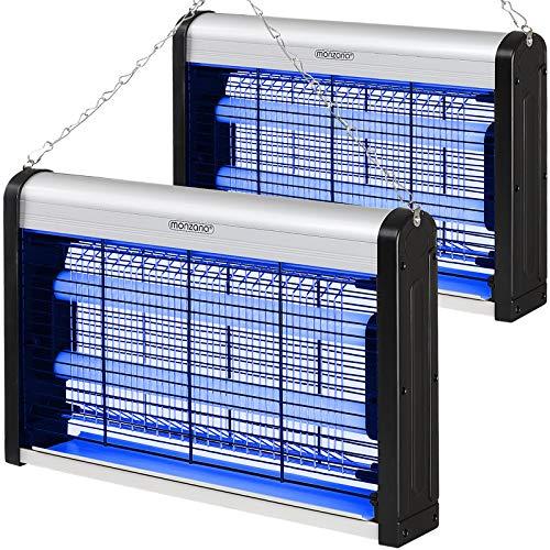 Monzana Insektenvernichter elektrisch UV LED 2er Set Insektenfalle Mückenlampe Fliegenfänger inkl. Kettenaufhängung