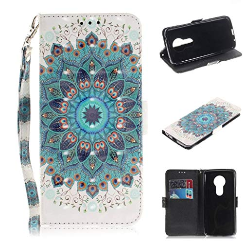SATURCASE Motorola Moto E5 Hülle, Schönes 3D PU Lederhülle Magnetverschluss Flip Brieftasche Handy Tasche Schutzhülle Handyhülle Hülle mit Standfunktion & Kartenfächer für Motorola Moto E5 (TD-3)