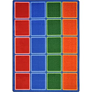 Blocks ABOUND Kids Rugs Area Rug 5'4″ X 7'8″
