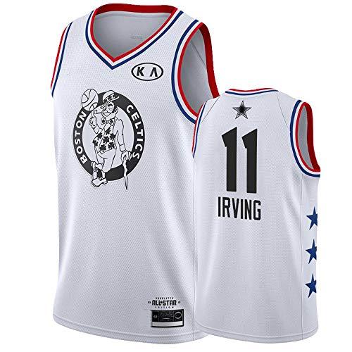 XSJY Los Hombres De Baloncesto De La NBA Jersey-Boston Celtics # 11 Irving Jersey, Ropa De Deporte, Unisex Sin Mangas Bordado De Malla De Baloncesto Swingman Jersey Gran,A,S:165~170cm/50~65kg
