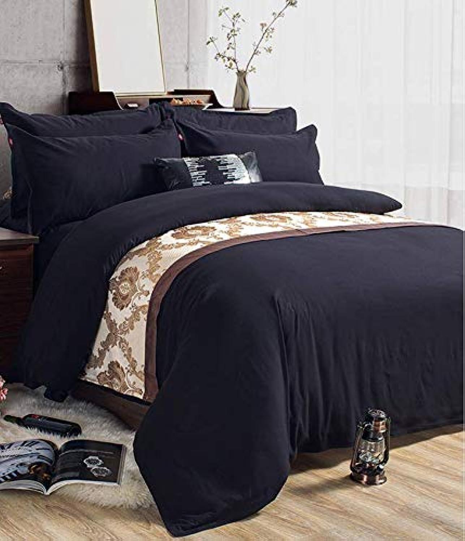 HANJIAJ Un Drap de lit Noir Un Matelas de lit