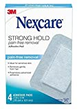 Nexcare Sensitive Skin Adhesive Pads, Pain-Free Removal, 3 Inch X 4 Inch, 4 Pack, Blue...