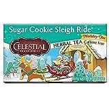 Celestial Seasonings Herbal Tea, Sugar Cookie Sleigh Ride, Caffeine Free Holiday Tea, 20 Tea Bags (Pack of 6)
