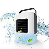 Nertpow Portable Air Conditioner, Portable Cooler, Quick & Easy Way to Cool Personal Space, As Seen On TV, Suitable for Bedside, Office,Tent,Baby's Room and Study Room, Three Wind Level Adjustment…