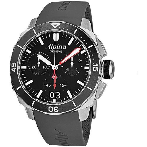 Alpina Herren Chronograph Quarz Uhr mit Leder Armband AL-372LBG4V6