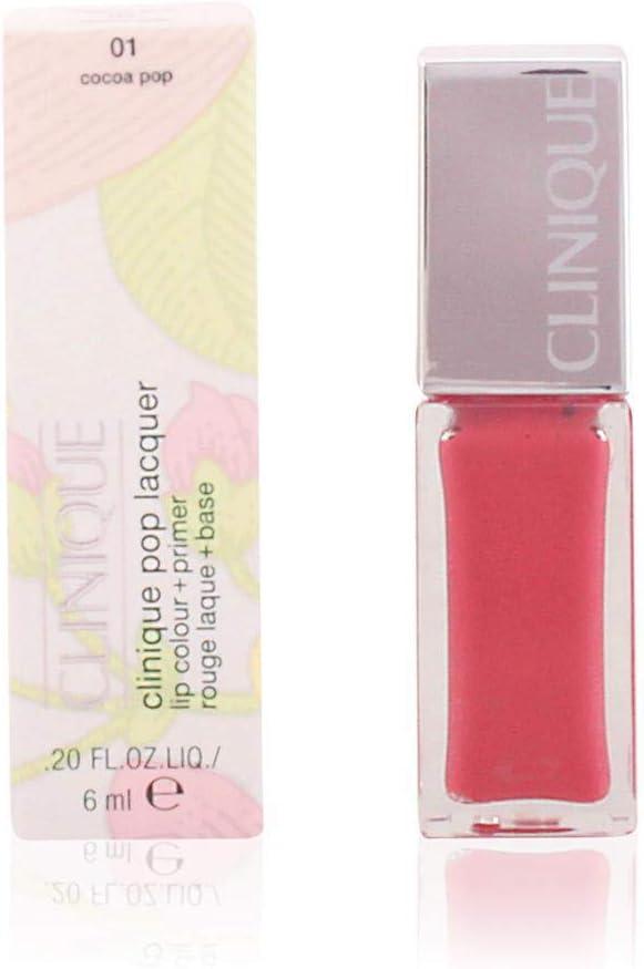 Clinique Lacquer Lip Color Plus Primer, 01 Cocoa Pop, 0.2 Ounce