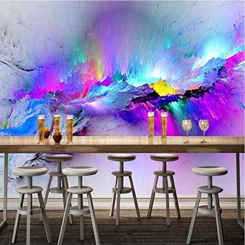 SHFGHJNM Papel Tapiz fotográfico Color Moderno Arte Abstracto Pintura de Pared Sala de Estar Café Bar Ktv Mural Papel Tapiz Decoración TV Decoración de Pared Papel Mural-150x105 cm