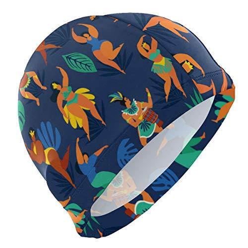PINLLG - Gorro de natación para Hombre, diseño de Bailarina de Samba
