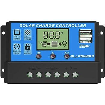 20A Solar Laderegler Controller Panel Batterie Regler PWM LCD Dual USB 12V//24V G