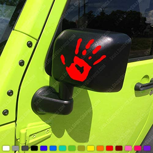 Two Wave Stickers Compatible with Jeep Wrangler JL JT JK TJ YJ CJ x2 Decals Pair Left Right product image
