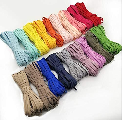 Liuer 8PCS Cuerda Elastica,Cordón Elástico Cordón Color Goma Elástico Bandas para Costura Y Manualidades DIY Cordon, Cordón goma para Elástico de Cuerda Tela para Coser Ropa(5MM/80M)