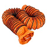 VEVOR Tubo PVC Flexible 7,6 m, Conductos de Ventilación Nuevo, Manguera de Conducto Flexible de PVC 6 kg, Tubo de Manguera de Ventilación Trajes Diámetro del Ventilador 31,2 cm, Anillos en Forma de D