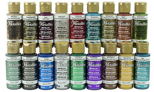 Deco Art Americana Dazzling Metallics Sampler Set 18/Pkg-Fan Favorites
