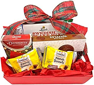 Gourmet Gift Basket Celebrate Holidays with Gift Basket of Snacks, Cookies, Chocolate and More (Christmas Morning Gift Bas...