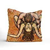 iacafaf Naked Eroticism Couple Lovers Pillow Decorative Throw Pillow Case 18 X 18 Inch Home Decoration Pillowcase Zippered Pillow Covers Cushion Cover with Words for Book Lover Worm Sofa Couch