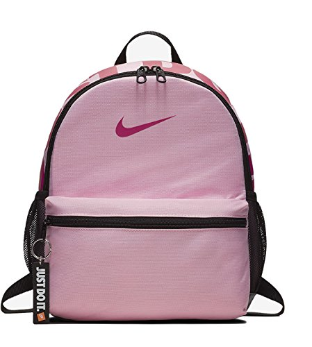 Nike Kids' Brasilia JDI Mini Backpack, Pink/Black, 33 x 25.5 x 10 cm