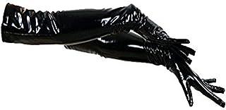 Fashion Queen Black/Red Wetlook PVC Women's Long Gloves Gothic Cosplay Fancy Dress
