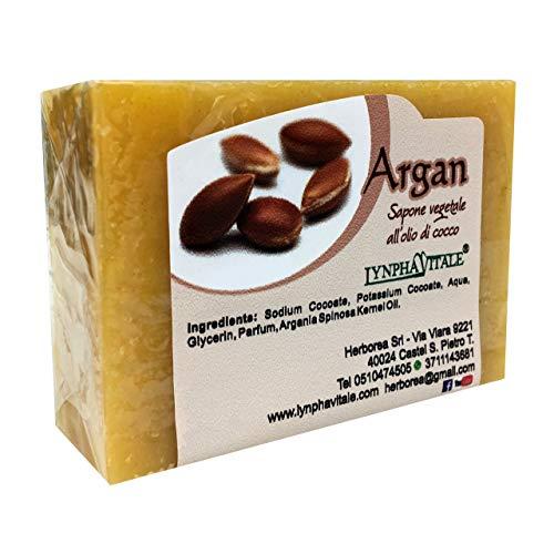 Savon à l'Huile d'Argan – Savon artisanal, naturel, travaillé à froid - Savon hydratant pour le visage et le corps - 100 gr