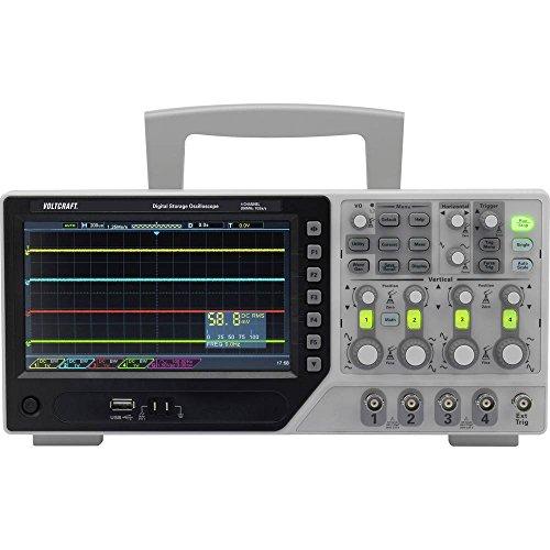 VOLTCRAFT DSO-1204E Digital-Oszilloskop 200 MHz 4-Kanal 1 GSa/s 64 kpts 8 Bit Digital-Speicher (DSO)