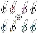 3M Littmann Master Cardiology Stethoskop MIT GRAVUR (verschiedene Farben) (Black Edition)