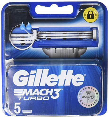 Gillette New Mach 3 Turbo Lame de repuesto - 2 paquetes de 5 piezas