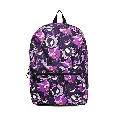 Pokemon Gengar Evolution All over Print Purple Backpack School Bag
