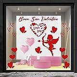 Cristalería San Valentín-decoración vitrina-DCUori y cubo rojo temas y...