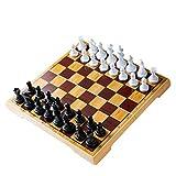 WXTRE Juego de ajedrez de Madera Ajedrez de Madera,Plegable Juego de ajedrez,ajedrez...