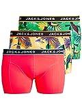 Jack & Jones JACSUMMER Animals Trunks 3 Pack PS Bóxer, Color Rosa, XXL US/4XL EU para Hombre