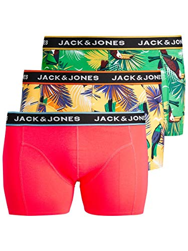 JACK & JONES Herren JACSUMMER Animals Trunks 3 Pack PS Boxershorts, Diva Pink, EU4XL US2XL