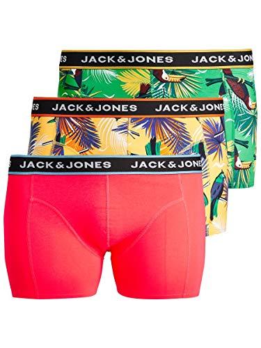 JACK & JONES Herren JACSUMMER Animals Trunks 3 Pack PS Boxershorts, Diva Pink, EU3XL US1XL