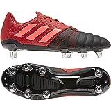 adidas Kakari Elite (SG), Chaussure de Rugby Homme, Core Black/Signal Coral/Scarlet, 45 1/3 EU