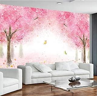 3D Murales Papel Pintado Pared Calcomanías Decoraciones Paisaje Romántico Rosa Flor De Cerezo Dormitorio De Los Niños Del Arte (W)250x(H)175cm