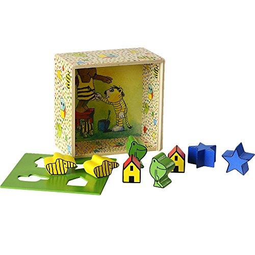 Beluga Spielwaren 65004 - Janosch Steckbox mit 4 verschiedenen Steckformen